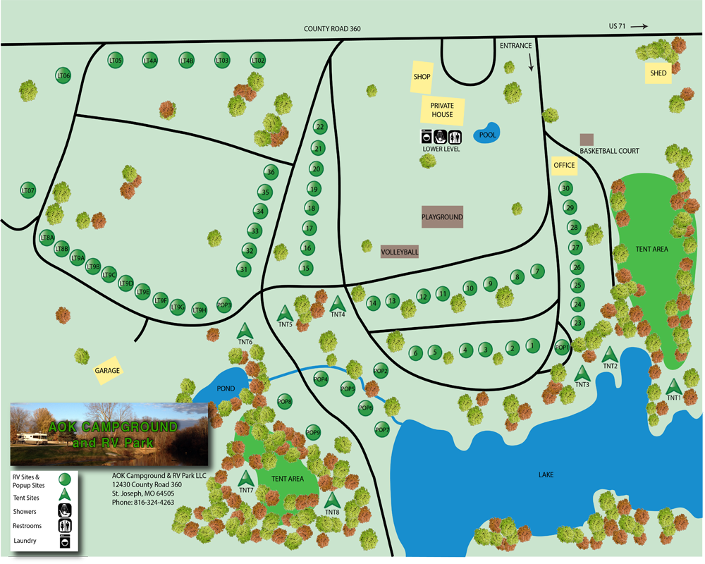 Map Aok Campground And Rv Park